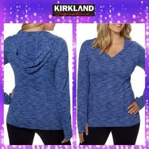 Kirkland Signature exercise hoodie top sz M